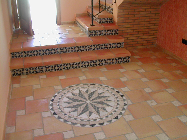 Escaleras baldosas de barro cocido manual suelos de for Escaleras baldosas ceramica