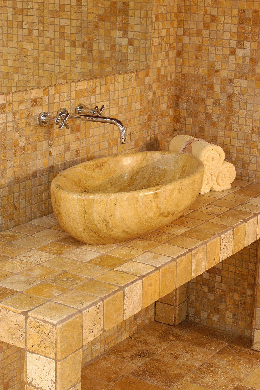 Lavabos en marmol tumbled marmol cer mica artesal - Lavabos de marmol ...